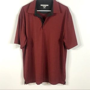 Greg Norman golf polo size Large red